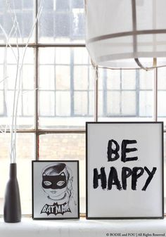 Be Happy print by BODIE and FOU — Bodie and Fou - Award-winning inspiring concept store Sweet Home, Interior Styling, Interior Design, Home And Living, Living Room, Living Spaces, Interior Inspiration, Design Inspiration, Pop Up