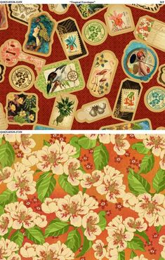 Beautiful Tropical Travelogue fabric from Wilmongton Prints. Love! #graphic45 #fabric