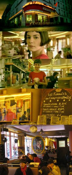 This is the cafe where Amelie worked in the film.