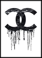 Chanel runny paint, posters