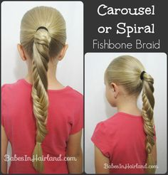 Carousel Fishbone Braid from BabesInHairland.com [Will have to try this!]