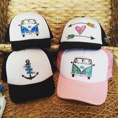 #truckerHats #arrows #hearts #pink #girly #black #blue #anchor #nautical #vwbus #Boys