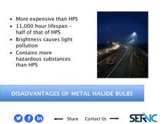 15. DISADVANTAGES OF METAL HALIDE BULBS