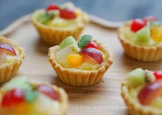 Mini Fruit Pies, Mini Pies, Tart Recipes, Cookie Recipes, Dessert Recipes, Egg Tart, Fruit Tart, Resep Cake, Roti Recipe