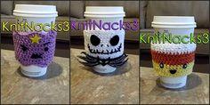 Crochet Coffee Cozy by KnitNacks3 on Etsy, $11.00