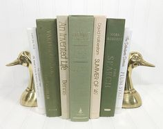 Green Decorative Book Set. Shelf decor Mantel Decor Shelf decorating mantel decorating. Buy On Etsy Now