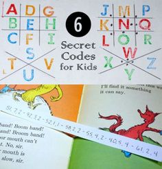 6 Secret Codes for Kids: Great way to make math and history fun! *love the cipher example
