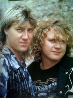 Joe Elliott and Rick Allen