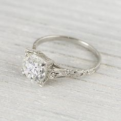 dream ring??  2.02 Carat Vintage Art Deco Solitaire by ErstwhileJewelry on Etsy, $33000.00