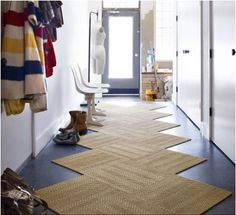 Love The Use Of Flor Tiles In A Narrow Entryway Entry Rug Hallway