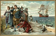 The real experience was more grim and harrowing, but I love this oddly endearing propaganda #pilgrims #plymouth #thanksgiving