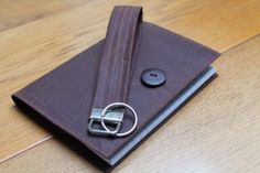 Keyring and A6 notebook set. Chestnut brown waxed cotton £8.00