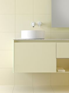 New finishes in pastel colors. #bathroom #design