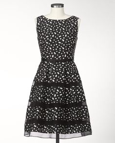 Polka dot tiers dress - just ordered this party dress for our dinner-dance at my conference in January!  Will look awesome with my red pumps!