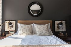 Shades of grey in the bedroom