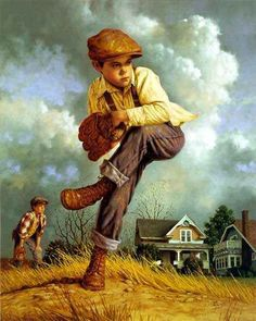 """""""Fastball"""" -- by Jim Daly (1940, American)"""