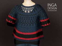 All size woman handmade crochet lace top. INGA Design.  http://www.inga-design.com/shop/product_info.php?cPath=3&products_id=104&osCsid=5bbf542535ea2c8036138252e59620d6