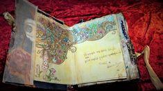 σελίδα σε πειραγμένο βιβλίο για προσωπικό άλμπουμ, μεταφορά σκίτσου σε ακουαρέλα και χρωματισμός Altered Books, Artwork, Work Of Art, Auguste Rodin Artwork, Book Art, Artworks, Illustrators