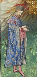 The Morgan Library & Museum Online Exhibitions - Illuminating Fashion: Dress in the Art of Medieval France and the Netherlands - Replicas..Gaston Phoebus's Livre de la chasse; Paris, France, ca. 1406 .