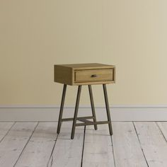 Campaign Bedside Table | Loaf; weathered oak, vintage bronze finish metal legs; H600 x D350 x W420, drawer H100; £215