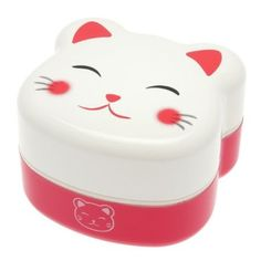 Amazon.com: Kotobuki 2-Tier Bento Box, White Kitty: Kitchen & Dining