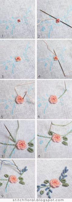 Bullion knot crash course #bullion_stitch, #bullion_knot_tutorial, #bullion_knot_rose_tutorial