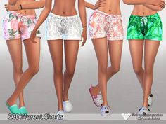 Pyjama Shorts Pack Waiting for Spring by Pinkzombiecupcakes at TSR • Sims 4 Updates