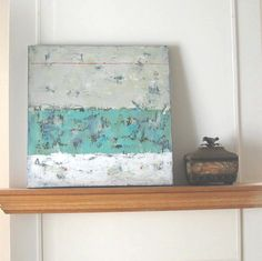 Abstract Painting Weathered Original Acrylics by BrookeHowie, $295.00