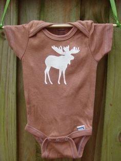 moose onesie, adorable! I love saying moose in a funny voice and I can totally see myself saying that to a baby.