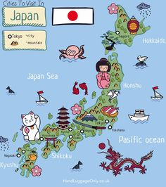 Cities To Visit In Japan. Via Hand Luggage Only Japan is a country that's so incredible to explore! From the stunning hiking trails, islands like Kyushu and the best cities in Japan to visit, there's a little slice of the country that I'm sure