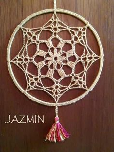 Mandalas Siete Chakras, Tejidas A Crochet,! Únicas! - $ 180,00 en Mercado Libre Crochet Earrings Pattern, Crochet Mandala Pattern, Crochet Doilies, Crochet Patterns, Web Patterns, Dream Catcher White, Dream Catcher Boho, Crochet Mandela, Diy Dream Catcher Tutorial