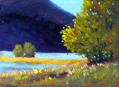 Northwest Landscape Painting Original Oil 6x8 by smallimpressions