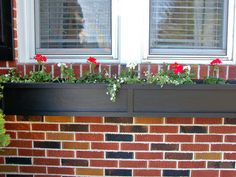 window sill flower bed boxes