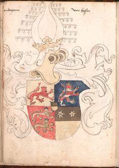 Wernigeroder (Schaffhausensches) Wappenbuch Süddeutschland, 4. Viertel 15. Jh. Cod.icon. 308 n  Folio 13v