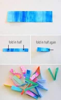 folded paper bracelets--tutorial. Tween library craft.  I have used these as a passive after school craft before.  Tweens seemed to enjoy it and it kept after school patrons busy.