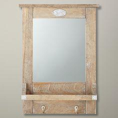 Buy John Lewis Lobby Mirror, Brown, H52 x W35cm Online at johnlewis.com