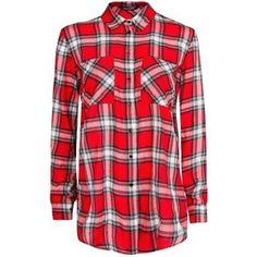 Katoenen blouse met schotse ruitprint van Mango