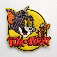 New to craftapplique on Etsy: cartoon TV Tom and Jerry patch American cartoons Embroidery patches patch Embroidered patch iron on patch sew on patch 7.87.8cm A63 (3.50 USD)