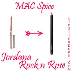 MAC Spice lip pencil dupe > Jordana Easyliner in Rock N Rose 8 Loveable Lip Liner