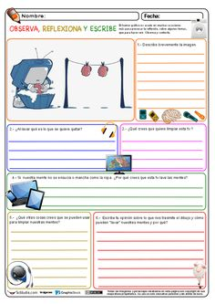 Observa, reflexiona y escribe 04 Elementary Spanish, Ap Spanish, Spanish Lesson Plans, Spanish Lessons, Spanish Teacher, Spanish Classroom, Professor, Vocabulary Instruction, Spanish Teaching Resources