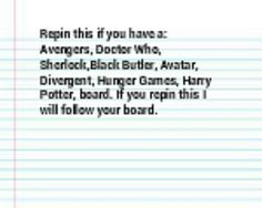 Dont be shy, Also percy Jackson And supernatural boards