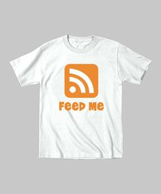 Take a look at this White 'Feed Me' Tee - Toddler by KidTeeZ on #zulily today!