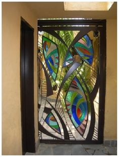 stained glass door on Stylehive. Shop for recommended stained glass door by Stylehive stylish members. Get real-time updates on your favorite stained glass door style. Broken Glass Art, Sea Glass Art, Stained Glass Door, Leaded Glass, Glass Doors, Cool Doors, Unique Doors, Mosaic Art, Mosaic Glass