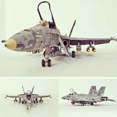 Beautiful camo!!! F/A-18C Hornet. Unknown modeler #scalemodel #plastimodelismo #hobby #digitalcamo #usinadoskits #udk #miniatura #scalemodelkit #plastickits