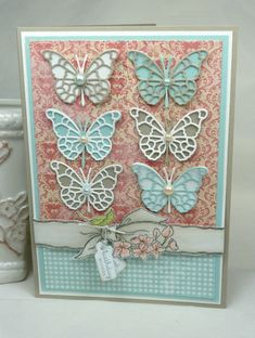 CC429 Six Butterflies by BeckyTE - Cards and Paper Crafts at Splitcoaststampers