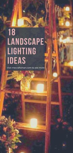 Small Courtyards, Cool Landscapes, Landscape Lighting, Ladder Decor, Lighting Ideas, Garden, Internet, Garten, Lawn And Garden