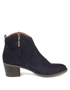 Stain Away™ Suede Block Heel Ankle Boots with Insolia® | M&