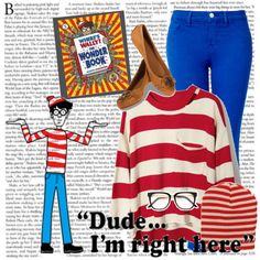 where's wally diy costume omg I would so do this! Cute and simple