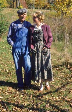 Cecily strolling through the woods with her father (Road to Avonlea)