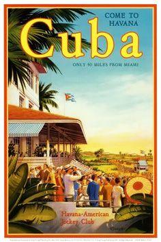 20x Vintage Travel Posters Cuba | Le testeur Voyage....reépinglé par Maurie Daboux ❥•*`*•❥